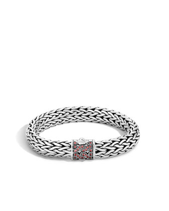 40th Anniversary Classic Chain Bracelet w/Red Sapphires