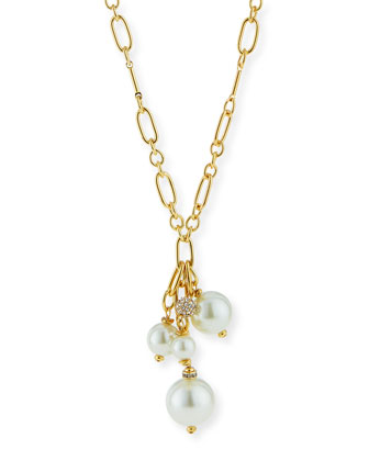 Pearly Y-Drop Chain Necklace