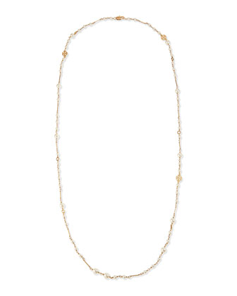 Evie Convertible Pearly Rosary Necklace