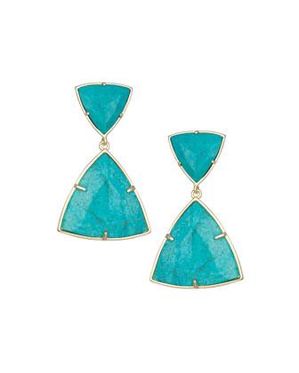 Maury Turquoise Magnesite Earrings