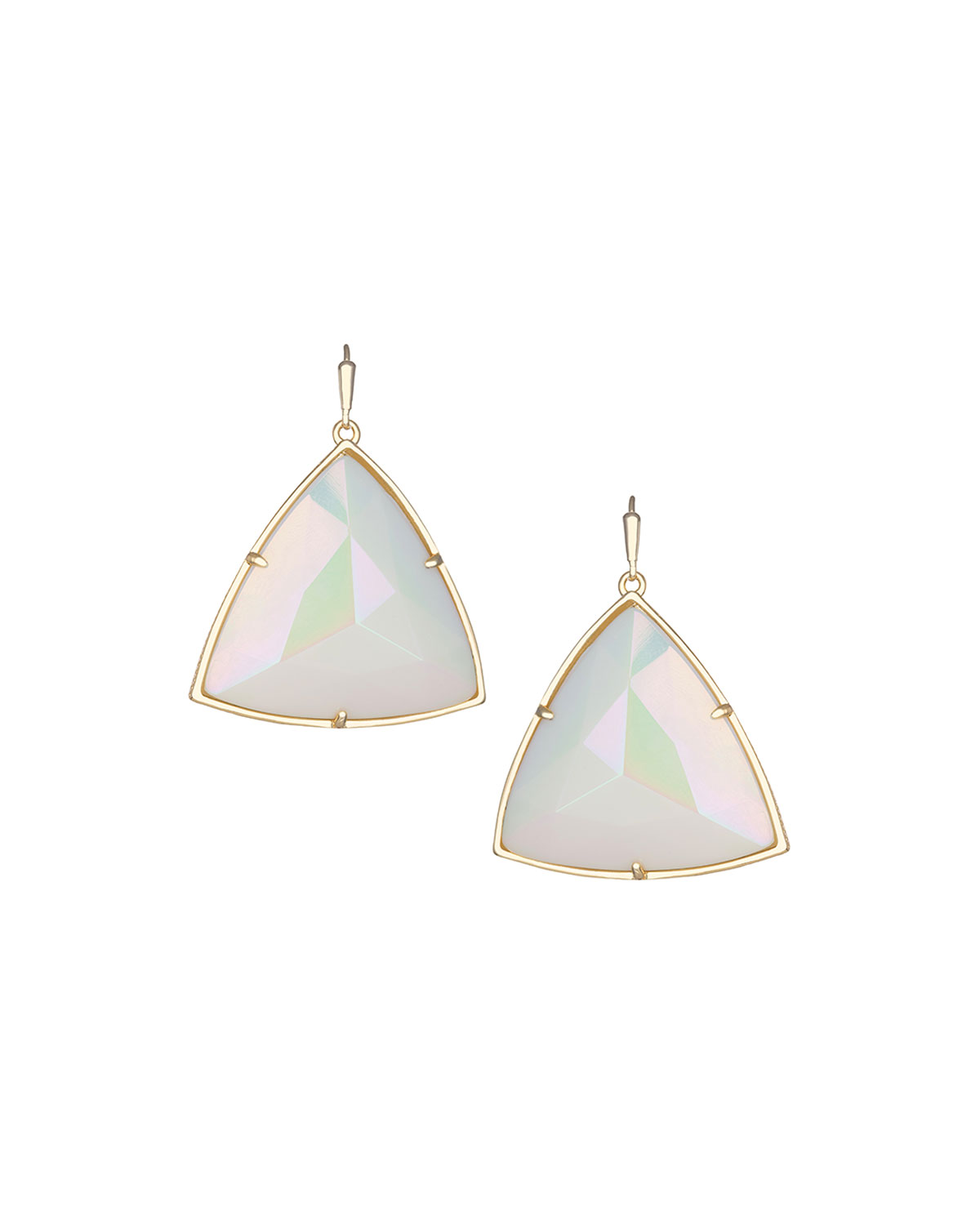 Nikki Iridescent Glass Earrings, IRIDESCENT WHITE - Kendra Scott