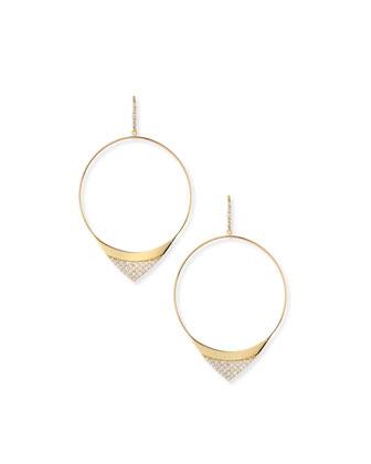 Large Electric Diamond Hoop Earrings