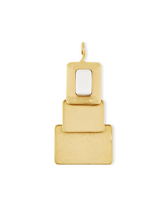 24K Gold-Plated Window Pendant