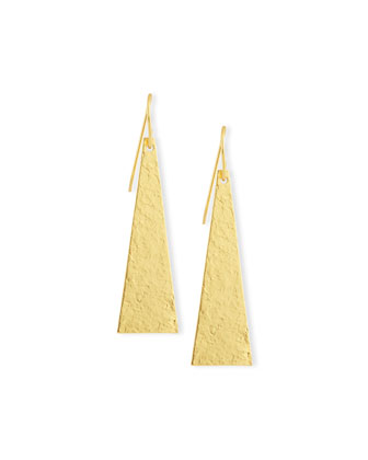 Hammered 24K Gold Song Earrings