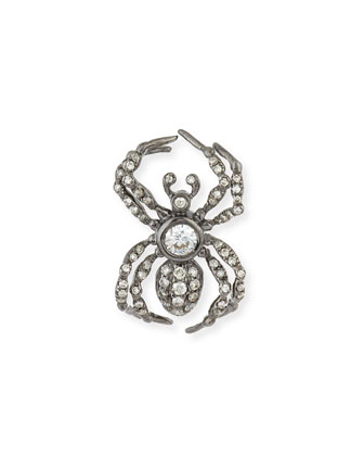 Large Pavé Diamond Spider Earring