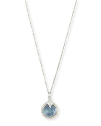 New World Blue Sapphire Triplet Pendant Necklace