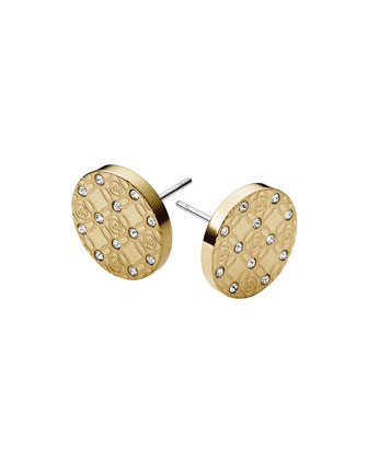 MK Monogram Stud Earrings