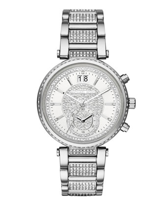 Sawyer 39mm Pavé Crystal Watch