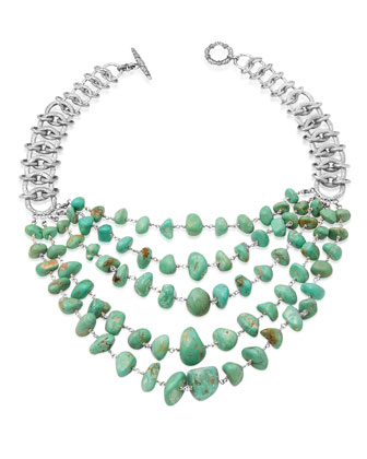 Five-Strand Turquoise Link Necklace