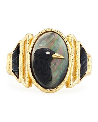 Elements Carved Raven Cameo Bracelet