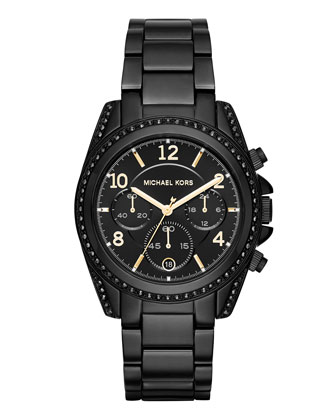 Blair 33mm Chronograph Watch, Black