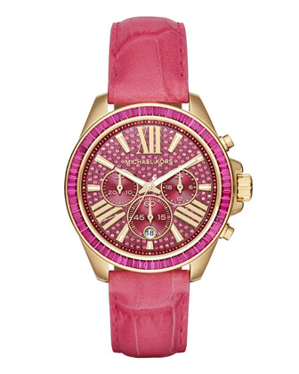 Wren 41.5mm Chronograph Watch, Pink