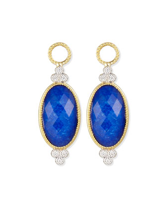 Provence Oval Lapis Earring Charms