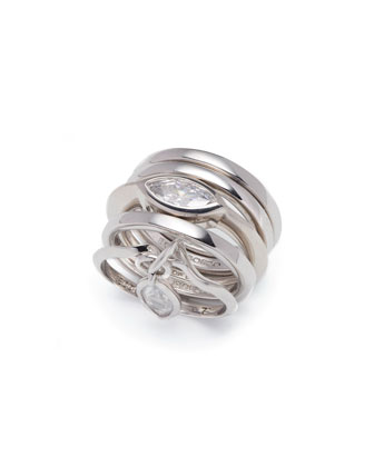 Navette Crystal Charm Ring