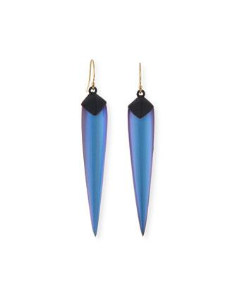 Element Spear Drop Earrings, Opalescent Denim