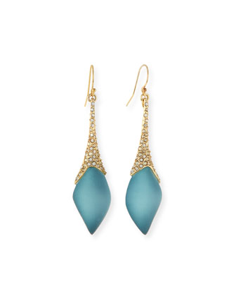 Element Pavé Crystal Drop Earrings, Montana