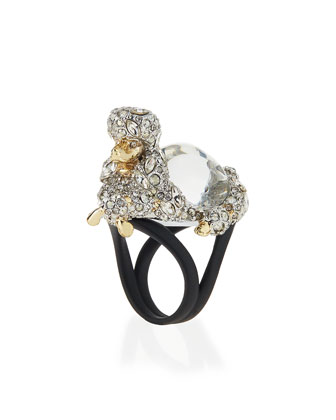 Jelly Belly Poodle Cocktail Ring, Size 7