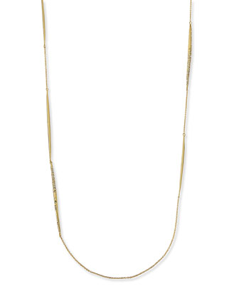Crystal-Encrusted Spear Station Necklace, 42