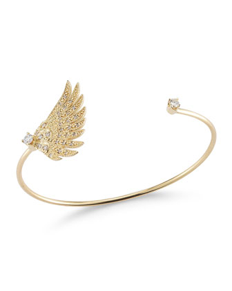 Single Wing Diamond Cuff Bracelet