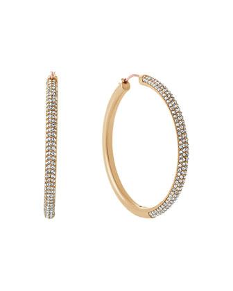 Park Avenue Pavé Crystal Hoop Earrings
