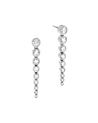 Park Avenue Tapered Crystal Statement Earrings