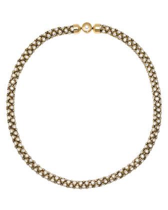 Park Avenue Mesh Crystal Necklace