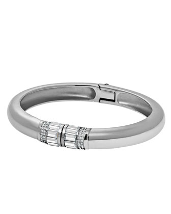 Park Avenue Hinged Crystal Bangle