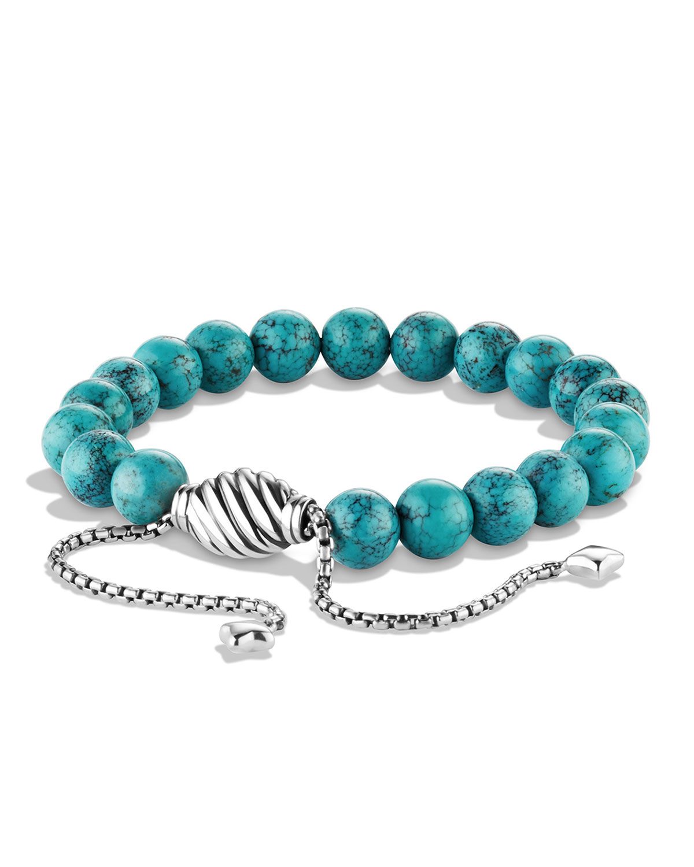 David Yurman Spiritual Beads Bracelet w/Chinese Turquoise, Size: M