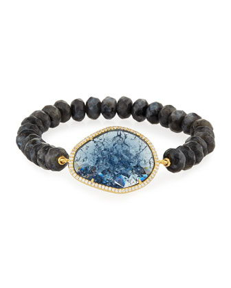 Montana Jasper Rock Bead Bracelet