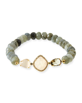 Faceted Labradorite Bead Bracelet