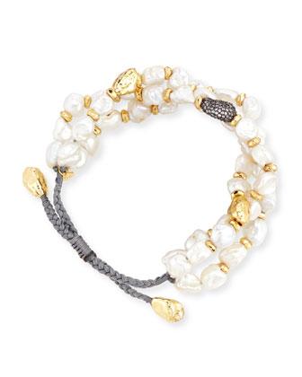 Baroque Pearl Cord Bracelet