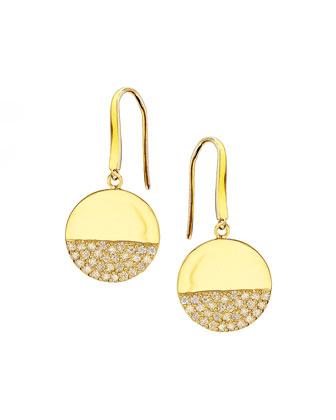 Illusion Pavé Diamond Disc Earrings