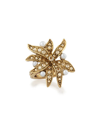 Swarovski® Pearl Flower Ring
