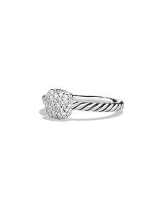 Pavé Diamond Cushion Stacking Ring