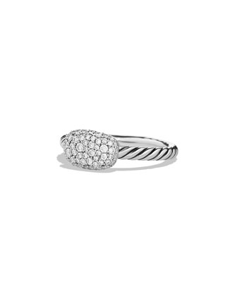 Petite East-West Pavé Diamond Stacking Ring