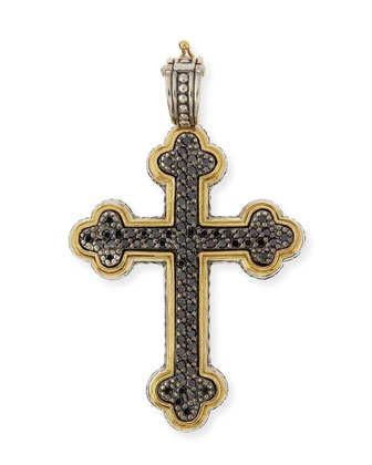 Pavé Black Diamond Cross Pendant