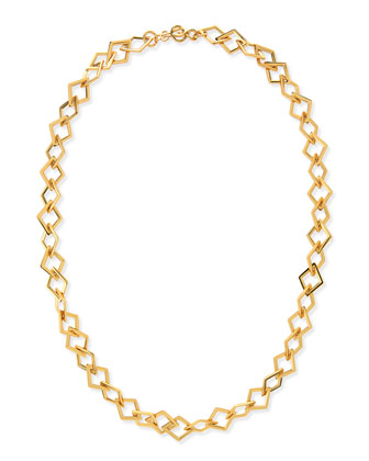 Element Square Link Chain Necklace, 42
