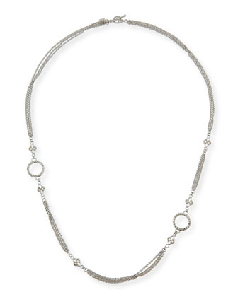 New World Three-Strand Scroll Necklace, 24