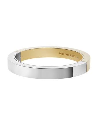 Metallic ID Bangle Bracelet