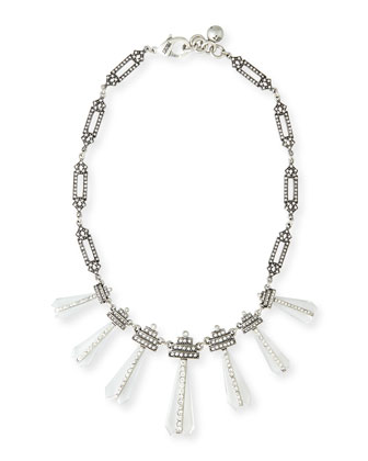 Crystalline Tapered Crystal Station Necklace