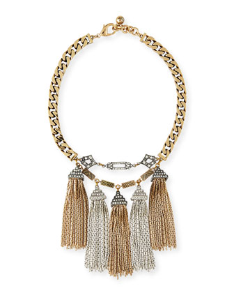 Metronome Antiqued Fringe Necklace