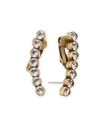 Hailey Tapered Crystal Ear Climbers