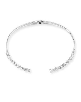Baguette Crystal Collar Necklace