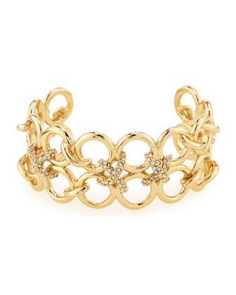 Crystal Bound Link Cuff Bracelet