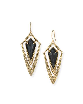Dangling Crystal Kite Drop Earrings