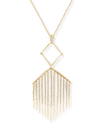 Graduated Crystal-Fringe Pendant Necklace