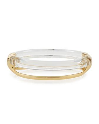 Two-Band Liquid Glazed Bangle Bracelet