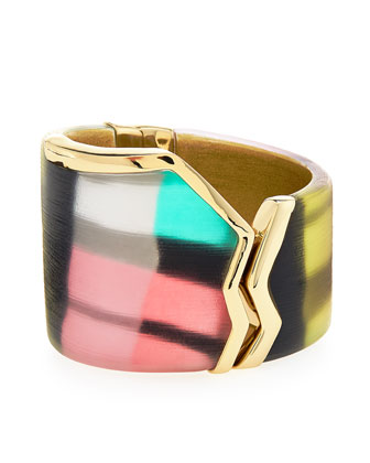 Jagged Brake Hinge Bracelet, Silk Mosaic