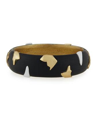 Matte Lucite Fragmented Hinge Cuff Bracelet