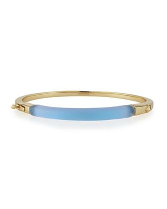 Lucite ID Bangle Bracelet